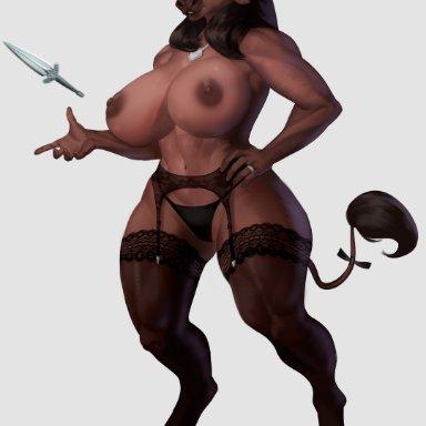 bremonqueen (artist), nihea avarta, european mythology, greek mythology, mythology, bovid, bovine, mammal, minotaur, abs, accessory, anthro, areola, biceps, big breasts
