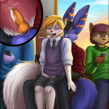 sidnithefox, sidni, stack (character), patreon, arctic fox, canid, canine, canis, fennec, fox, mammal, andromorph, andromorph/male, andromorph penetrated, animal genitalia